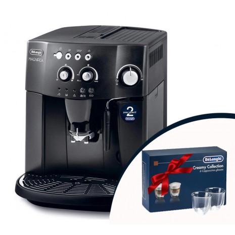 Кофемашина De`Longhi ESAM 4000.B + набор из 6-ти стаканов DeLonghi для капучино и пачка кофе Blasercafe!