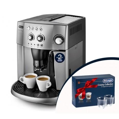 Кофемашина De`Longhi ESAM 4200.S + набор из 6-ти стаканов DeLonghi для капучино и пачка кофе Blasercafe!
