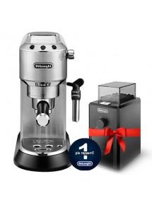Комплект: кофеварка De`Longhi Dedica Style EC 685.M + кофемолка KG 79 и пачка кофе Blasercafe в подарок!