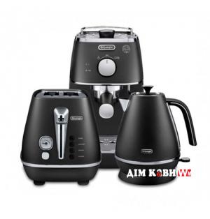 Комплект De`Longhi Distinta Black (кофеварка + чайник + тостер)