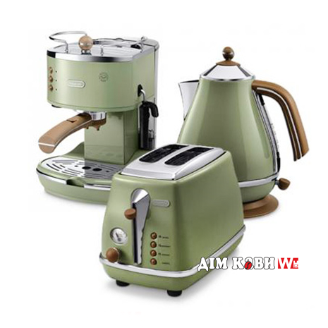 Комплект De`Longhi Icona Vintage Olivia (кофеварка + чайник + тостер)