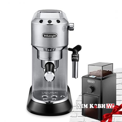Комплект: кофеварка De`Longhi Dedica Style EC 685.M + кофемолка KG 79
