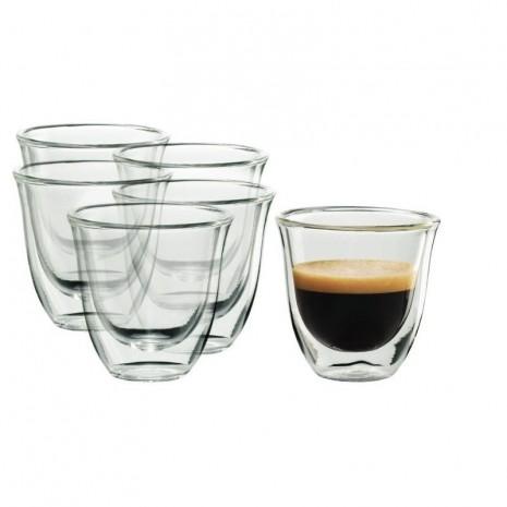 Набор из 6-ти стаканов для эспрессо De`Longhi (60 мл)