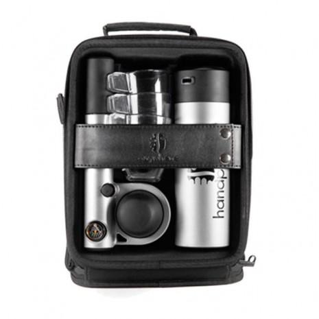 Кейс с ручной кофеваркой и аксессуарами Handpresso Pump set Grey