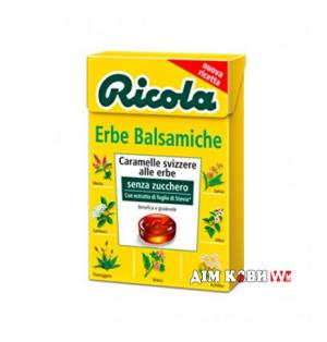 Леденцы Ricola Erbe Balsamiche (классические травы) 50 г