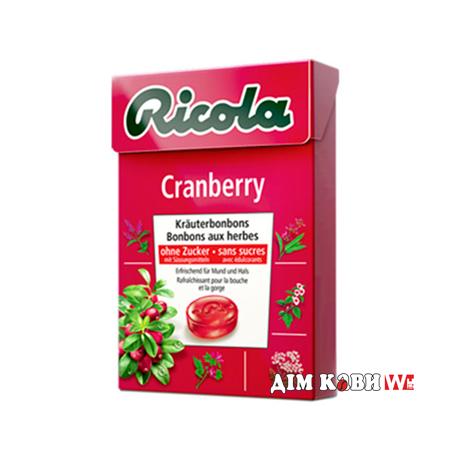 Леденцы Ricola Cranberry (клюква) 50 г