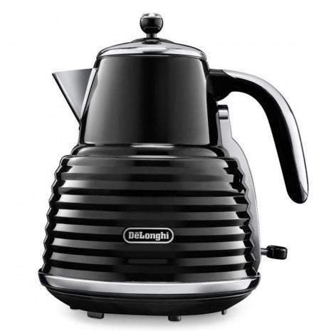 Комплект De`Longhi Scultura Black (кофеварка + чайник + тостер) и 3 пачки кофе Blasercafe в подарок!
