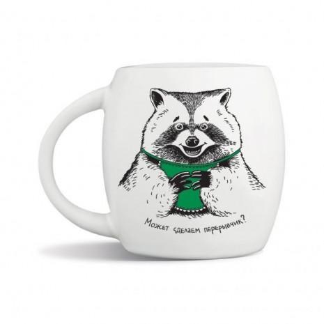 "Чашка подарочная Orner ""Енот"" (450мл)"