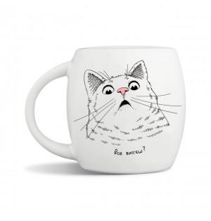 """Чашка подарочная Orner """"Кот"""" (450мл)"""
