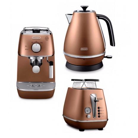 Комплект De`Longhi Distinta Copper (кофеварка + чайник + тостер)