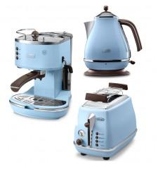 Комплект De`Longhi Icona Vintage Anita (кофеварка + чайник + тостер)