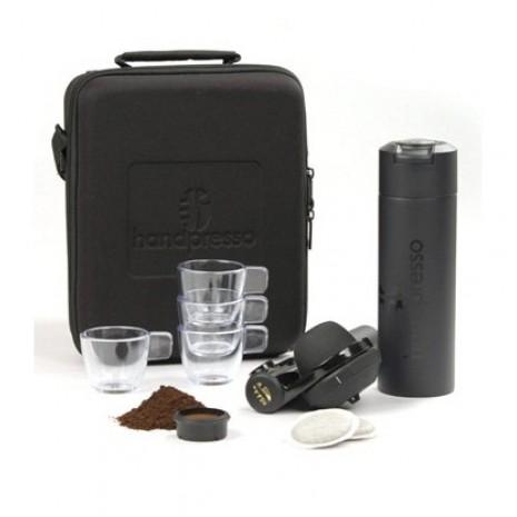 Кейс с ручной кофеваркой и аксессуарами Handpresso Pump set Black