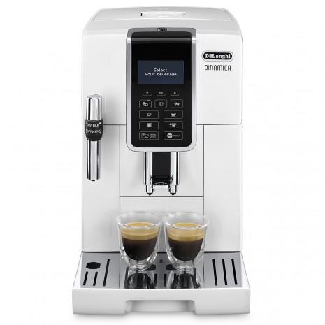 Кофемашина De`Longhi Dinamica Ecam 350.35.W + пачка кофе Blasercafe в подарок!