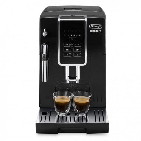 Кофемашина De`Longhi Dinamica Ecam 350.15.B + электрочайник DeLonghi KBOV 2001 BK + пачка кофе Blasercafe в подарок!