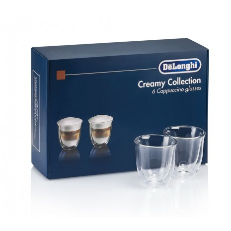 Кофемашина De`Longhi ESAM 2200.S + набор из 6-ти бокалов DeLonghi для капучино и пачка кофе Blasercafe в подарок!