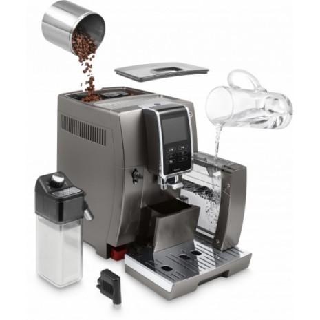 Кофемашина De`Longhi Dinamica Plus Ecam 370.95 T + фирменный набор для завтрака + пачка кофе Blasercafe в подарок!