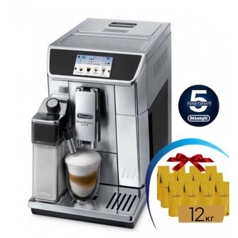 Кофемашина De`Longhi PrimaDonna Elite ECAM 650.75 MS + 12кг кофе Orient Blasercafe!