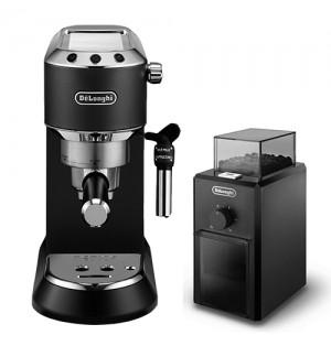 Кофеварка De`Longhi Dedica Style EC 685.BK + кофемолка KG 79 в подарок