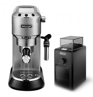 Кофеварка De`Longhi Dedica Style EC 685.M + кофемолка KG 79 в подарок