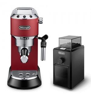 Кофеварка De`Longhi Dedica Style EC 685.R + кофемолка KG 79 в подарок