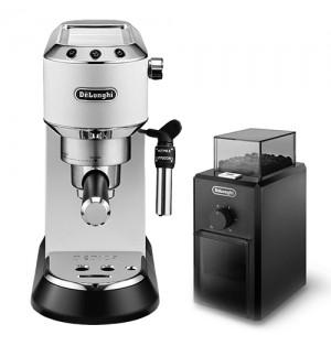 Кофеварка De`Longhi Dedica Style EC 685.W + кофемолка KG 79 в подарок
