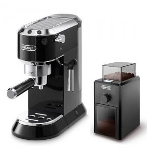 Кофеварка De`Longhi Dedica EC 680.BK + кофемолка KG 79 в подарок