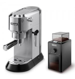 Кофеварка De`Longhi Dedica EC 680.M + кофемолка KG 79 в подарок