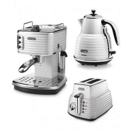 Комплект De`Longhi Scultura White (кофеварка + чайник + тостер)